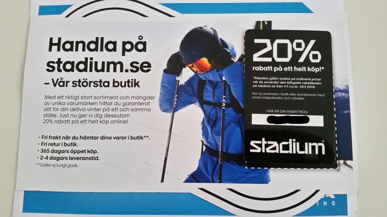 Stadium Rabattkod 20% På Ett Helt Köp (338392762) ᐈ Köp på Tradera dec120bc3d44c