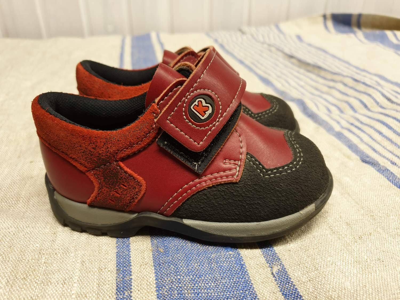 Kavat skor stl 22 Innermått ca 14 cm Kardborre .. (361415908