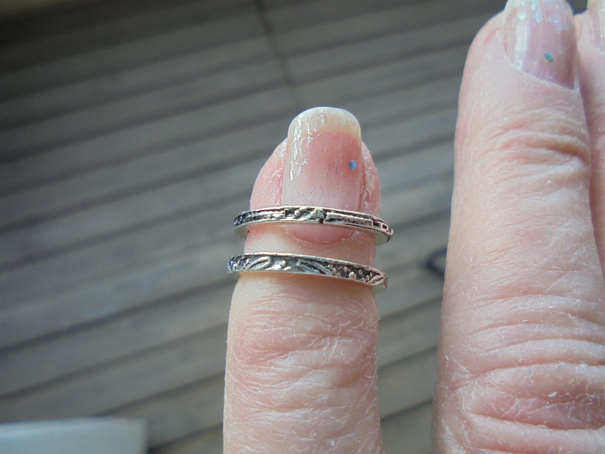 smala ringar silver