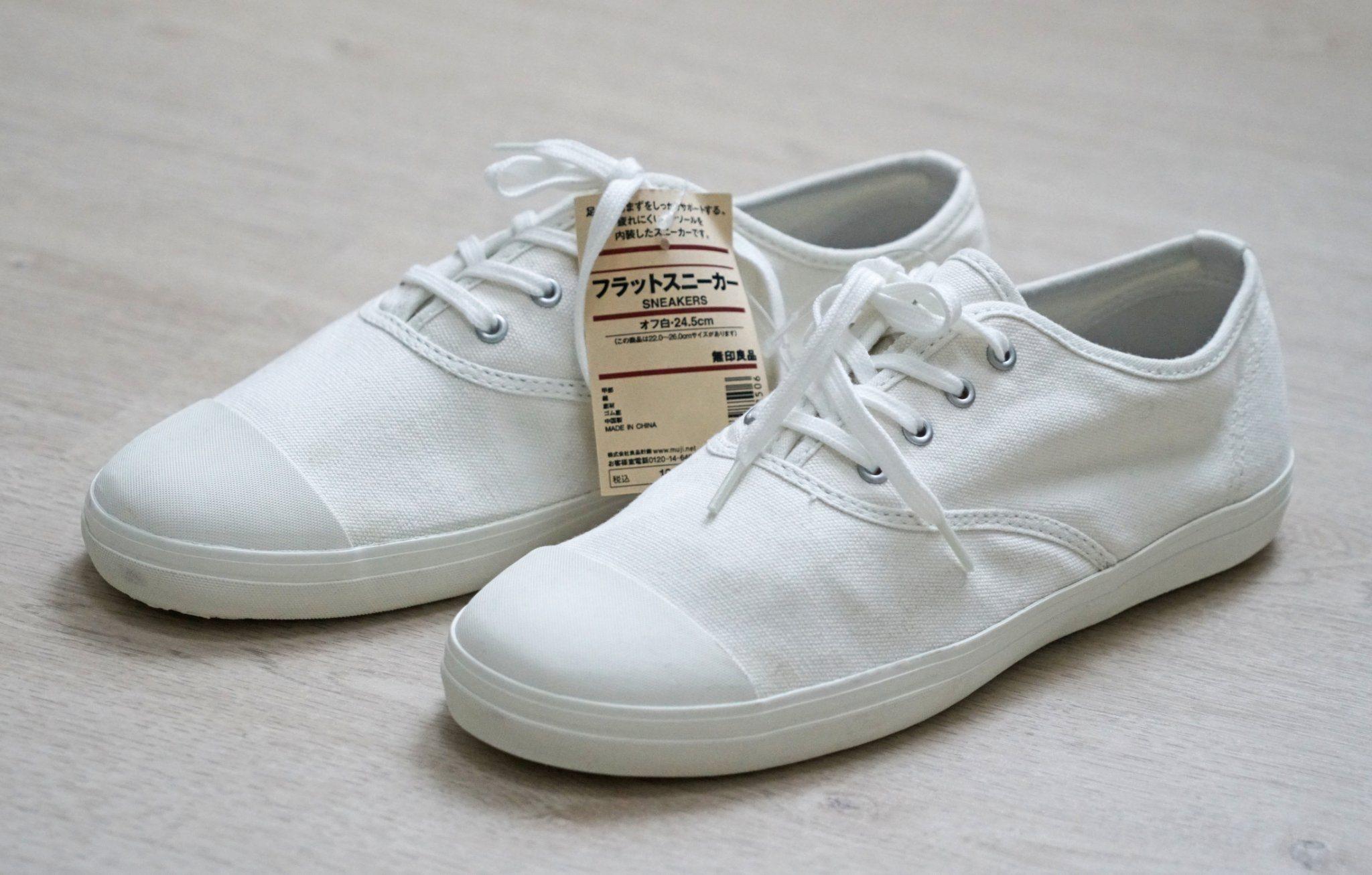 95f3dfbee2c MUJI tygsneakers, sneakers, skor, vårskor, sneaker, japanska MUJI NYA &  OANVÄNDA ...