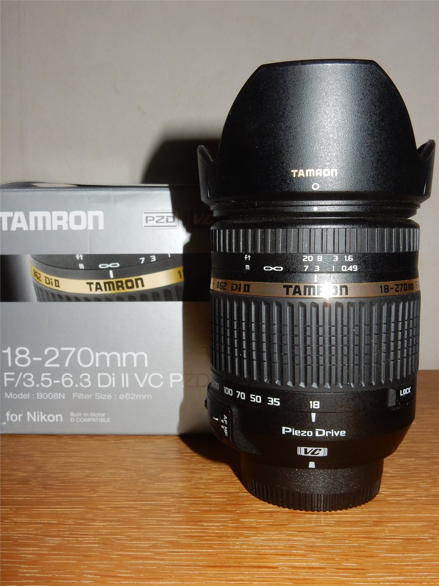 Tamron 18 270 Mm F 35 63 Di Ii Vc Pzd Topps 321914893 Kp For Nikon 200mm Toppskick