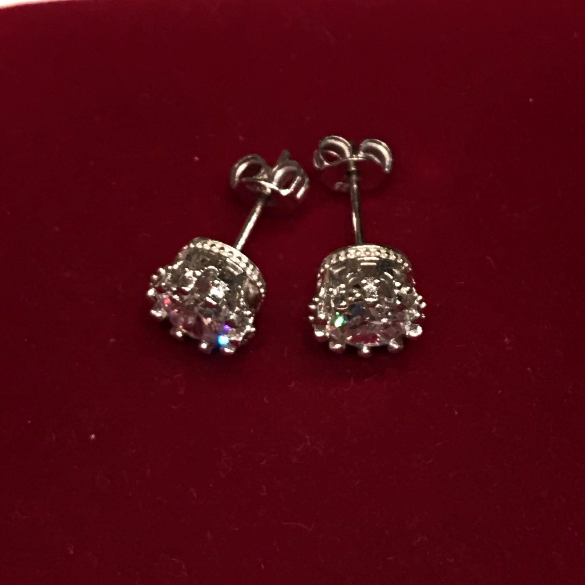 NY Örhängen Zirconia Cubic 2ct   925 Silver Prov Stamp Fashion Style Stylish 45a0d0f01ba8e