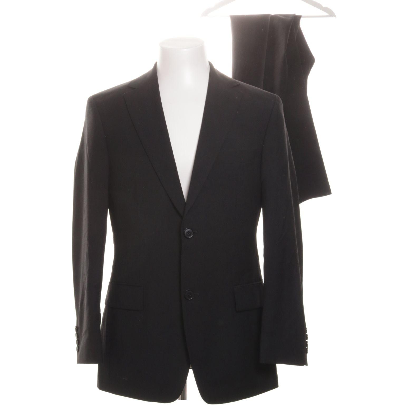 Hugo Boss, Kostym, Strl: 44, Svart