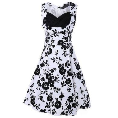 rockabilly klänning vit