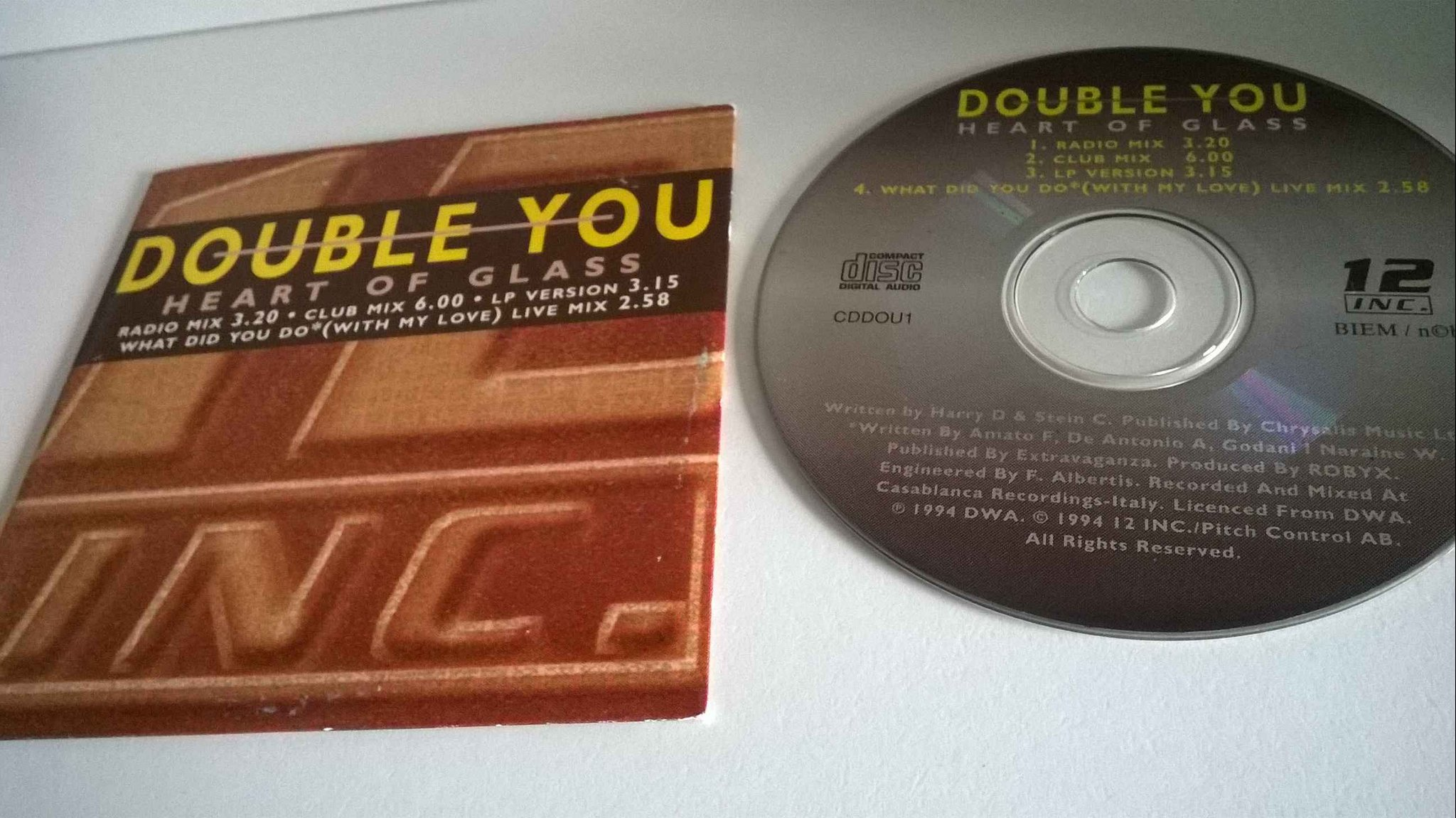 Double you - Heart of Glass, single CD