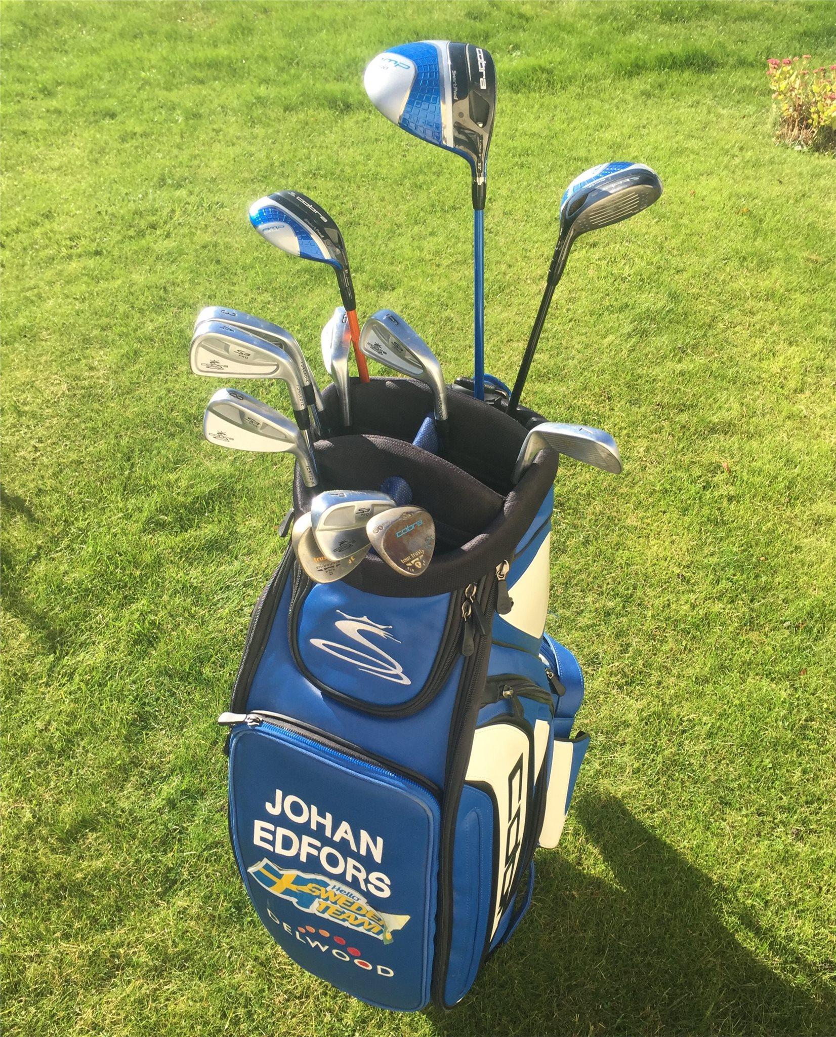 Golfbag och komplett golfset från PGA spelaren Johan Edfors