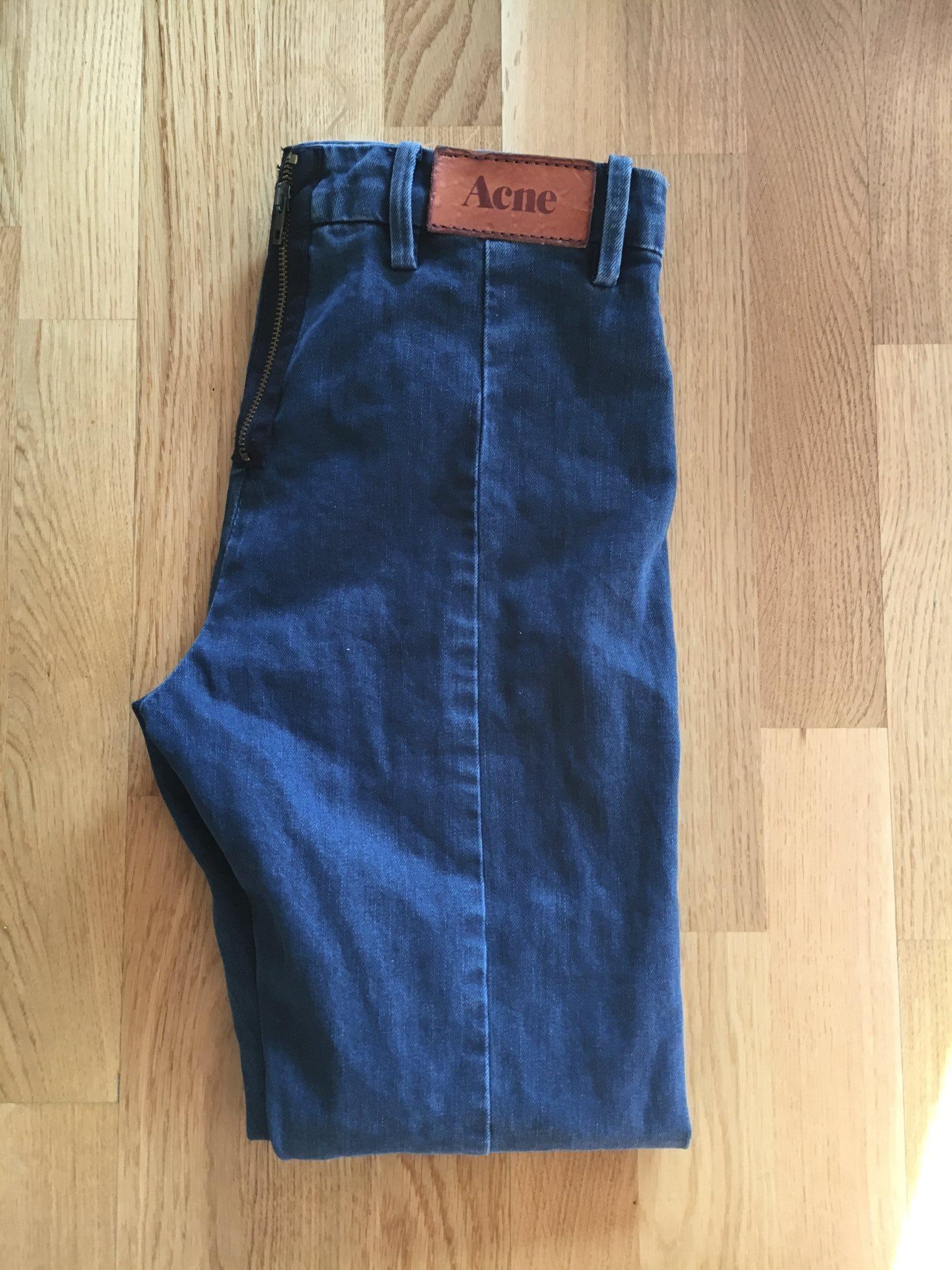 acne jeans dragkedja bak