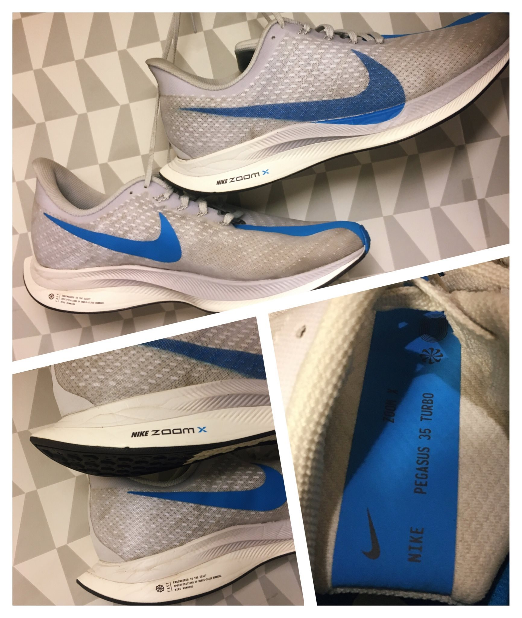 new style bb24b 11474 Nike Zoom Pegasus Turbo Herr Löparsko Running Training Träning Skor Vårmode  44,5