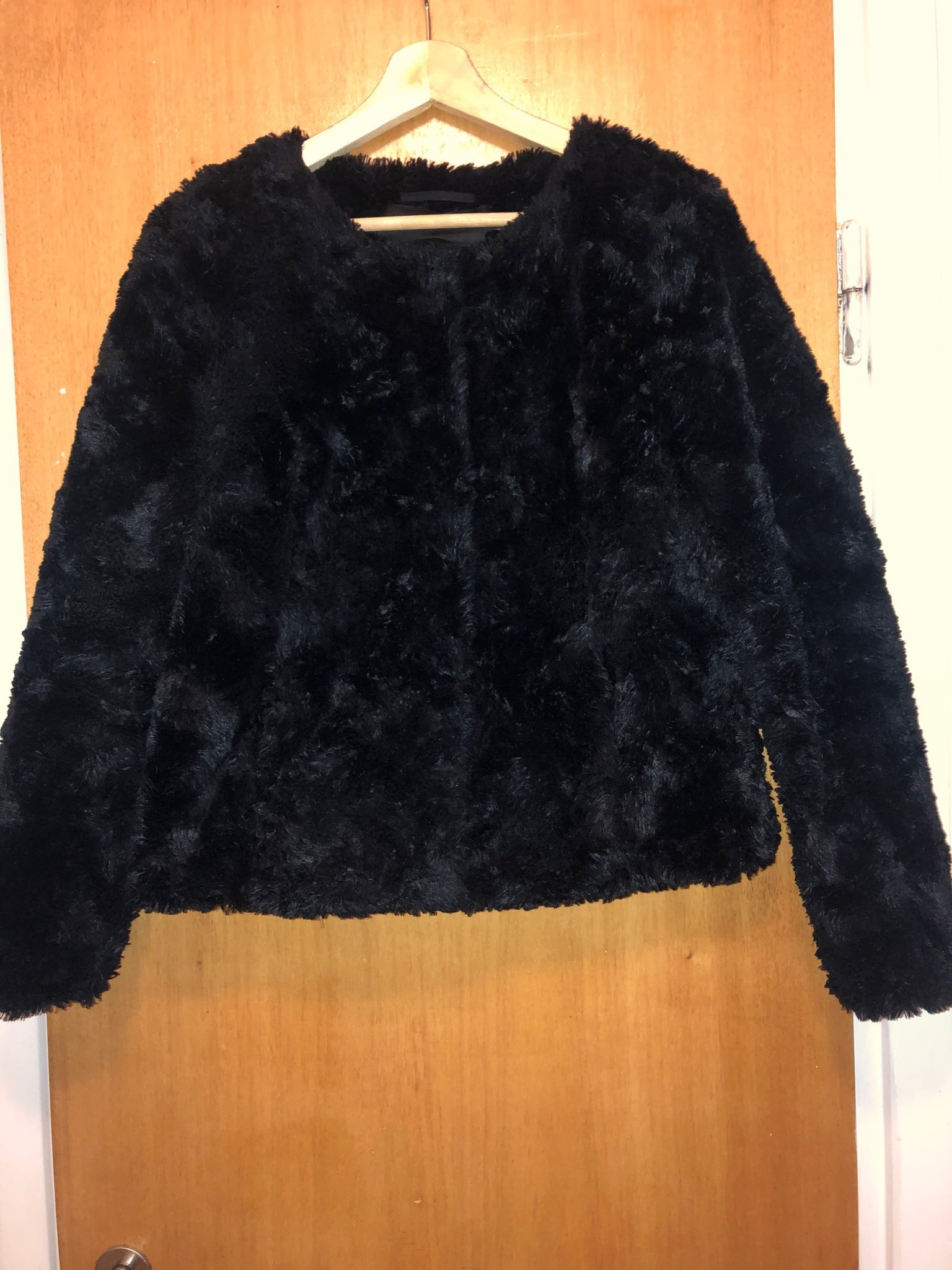 kort fuskpäls jacka vero moda