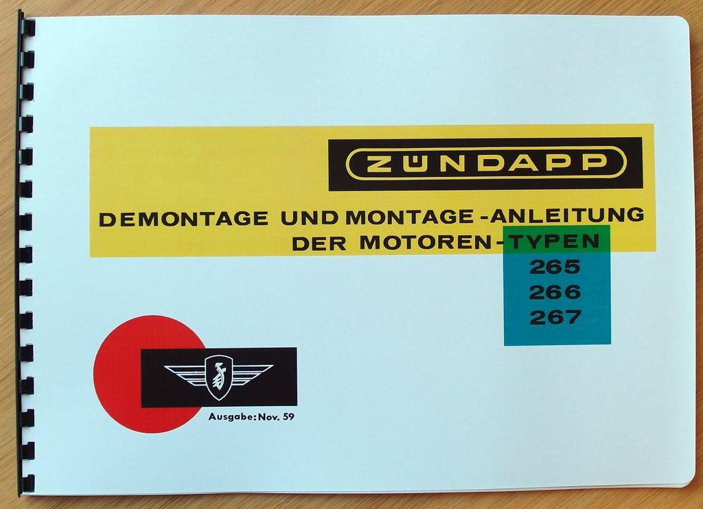 Verkstadshandbok Zündapp 50 cc Typ 265, 266 & & & 267 755b7a