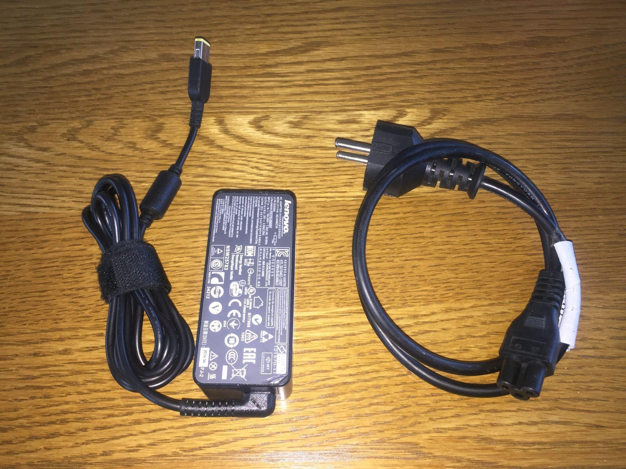 IBM Lenovo Thinkpad Laddare Original, 45W, 20V. Passar T440, Helix, Yoga mfl.
