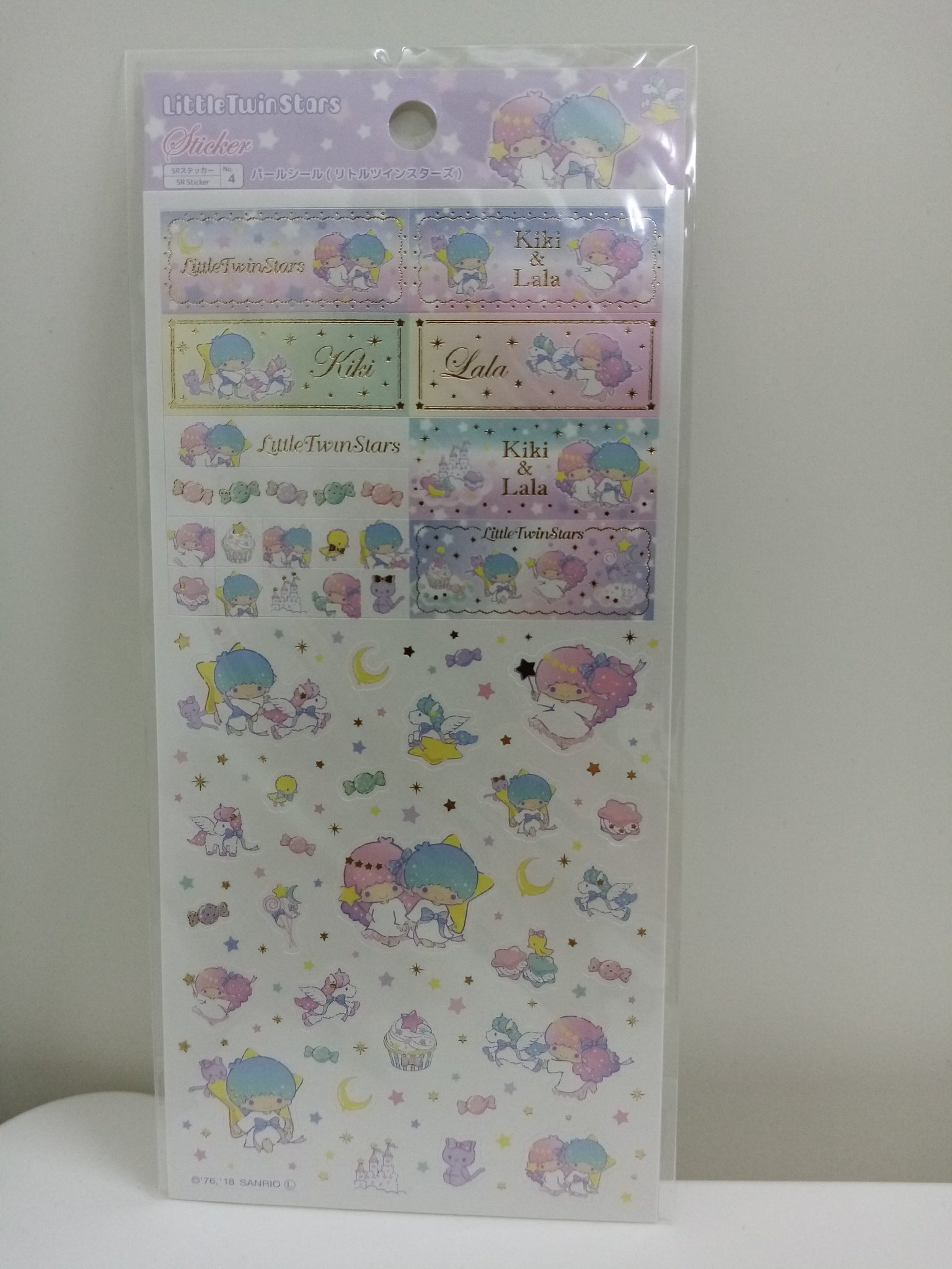 Little Twin Stars klistermärken stickers sanrio pyssel scarpbooking japan