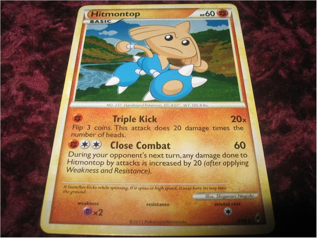 HITMONTOP HP60 RARE FOILAT 8/95 (CALL OF LEGENDS)