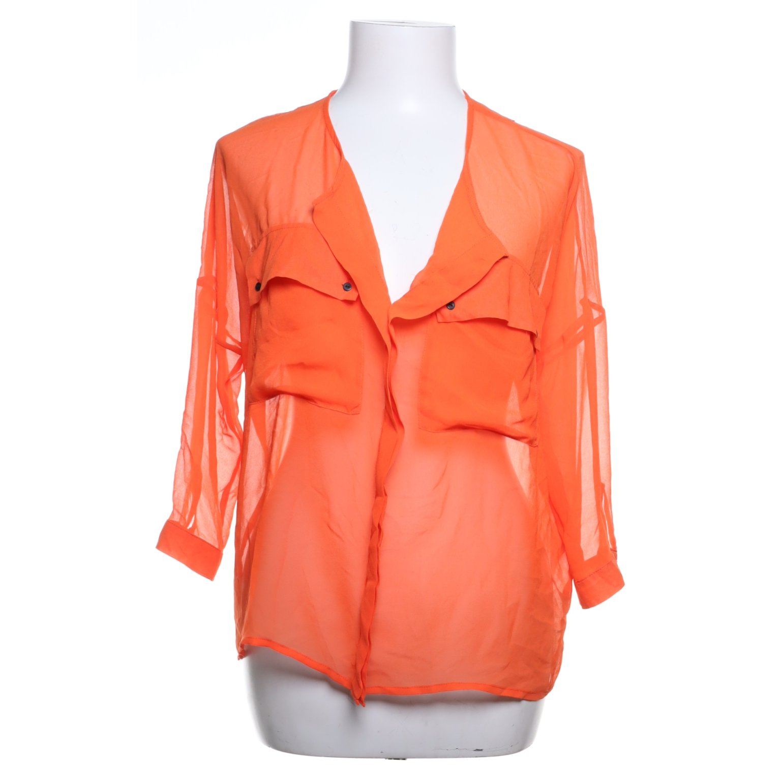 Selected Femme, Blus, Strl: 36, Orange, Polyester