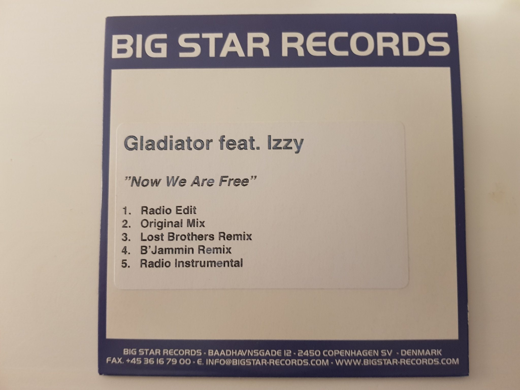 "GLADIATOR FEAT IZZY ""NOW WE ARE FREE""   PROMO"