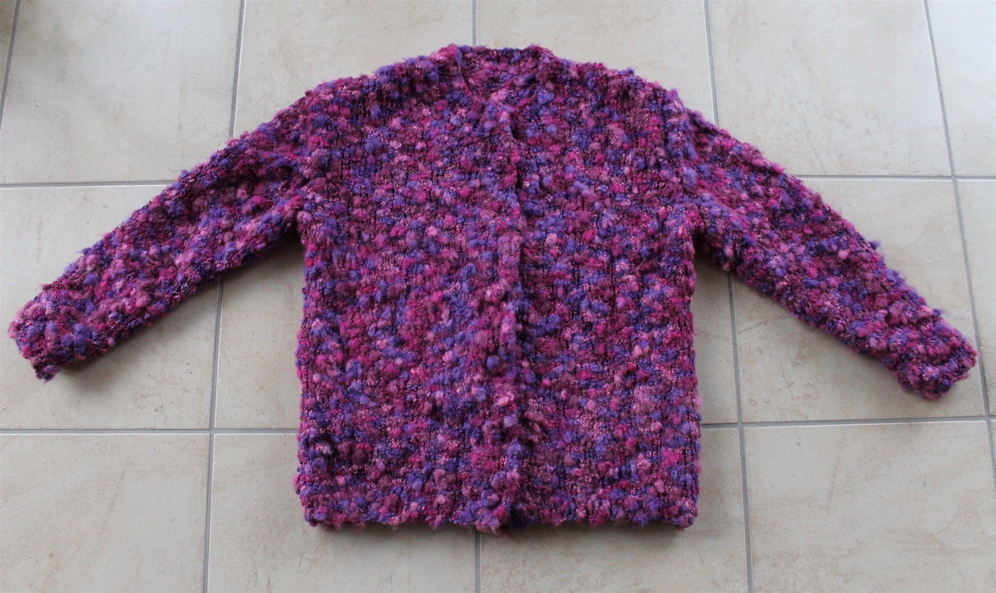 Vintage stickad tröja kofta jacka 90-tal lila g.. (335763452) ᐈ Köp ... e71362c519e45