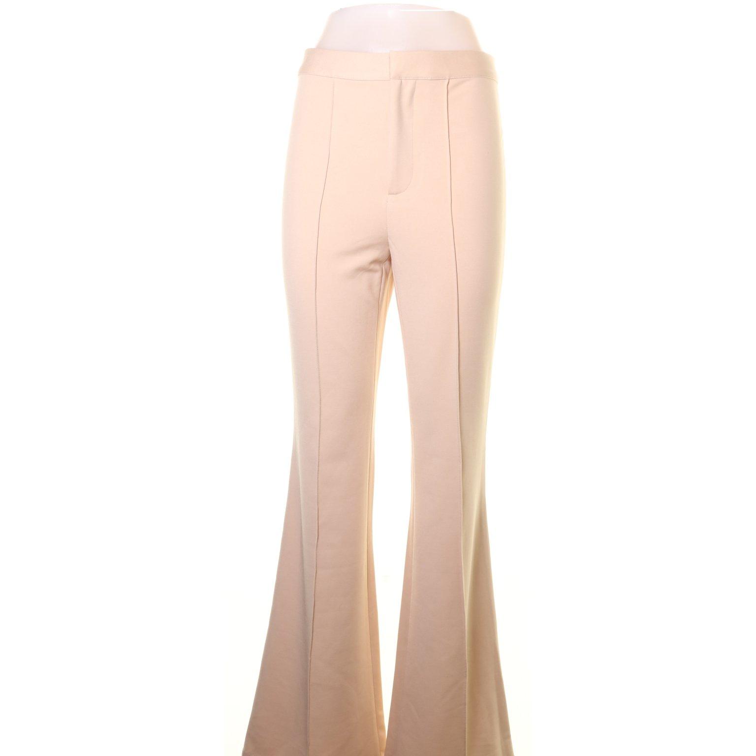 Fashion Nova, Byxor, Strl: M, Beige, Polyester (378394838