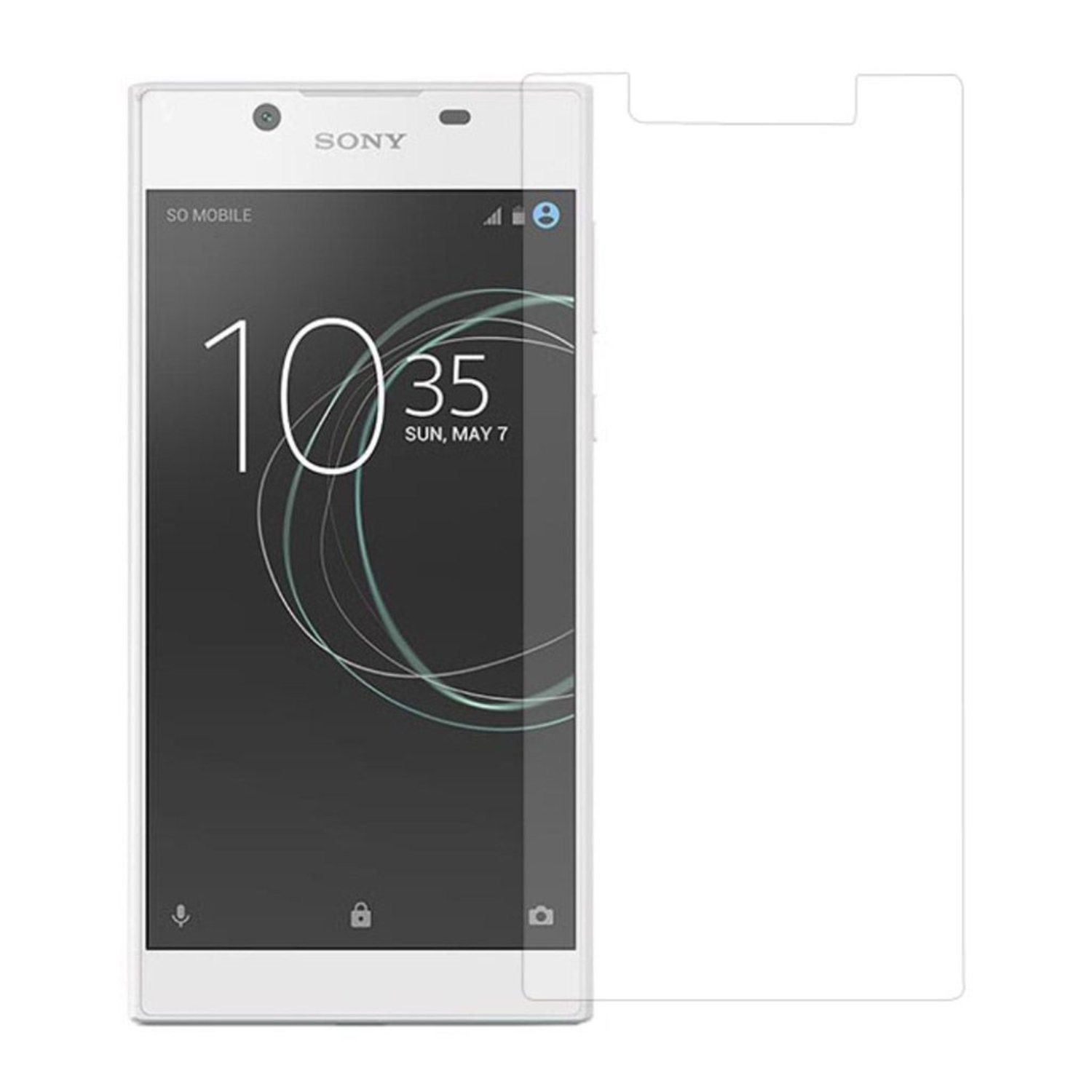 Sony Xperia L1 Tunt extra glas - Genomskinligt