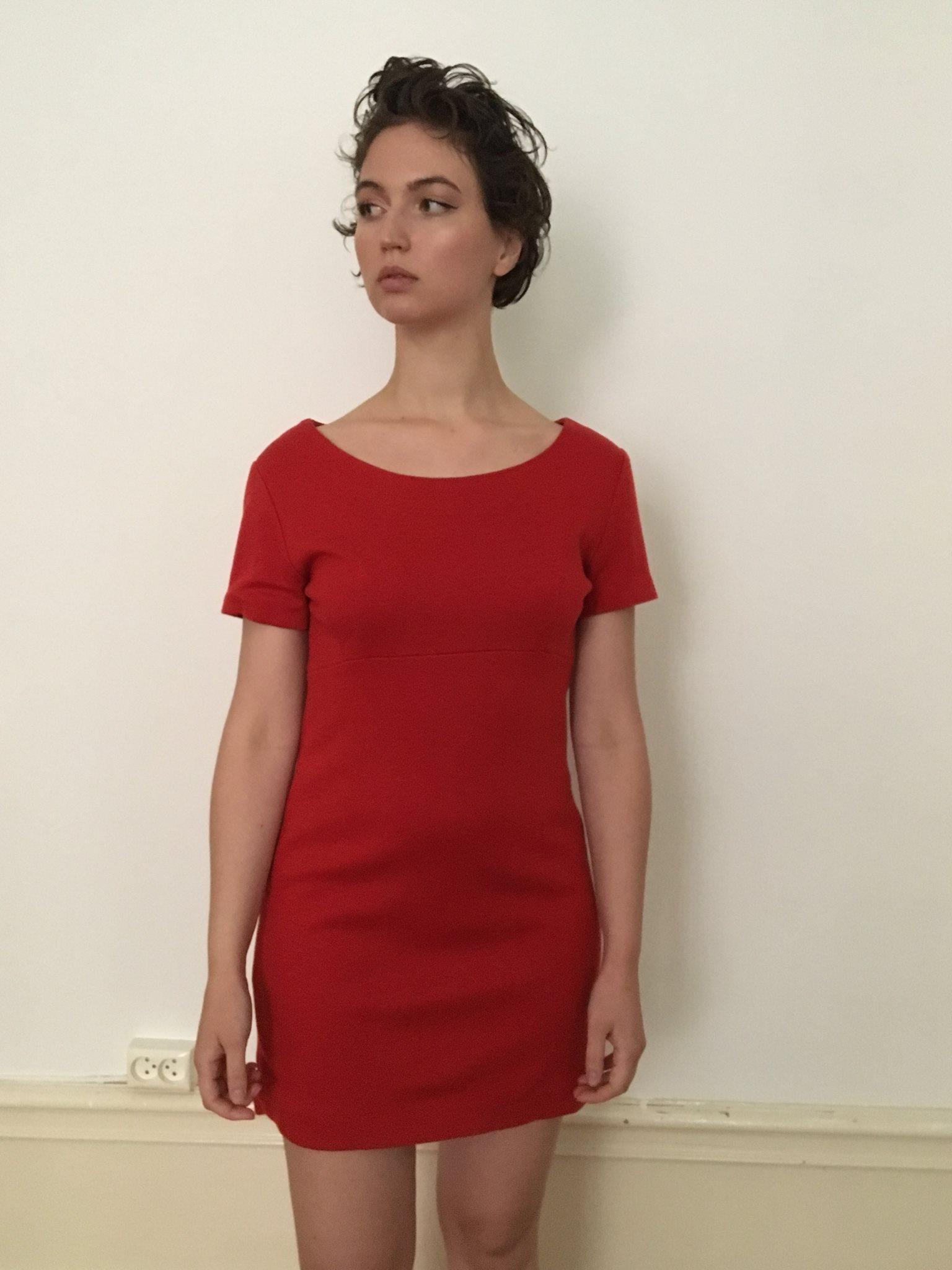 Röd klassisk vintage 50 60 tal klänning (330932203) ᐈ Köp på Tradera d4057931be8d8