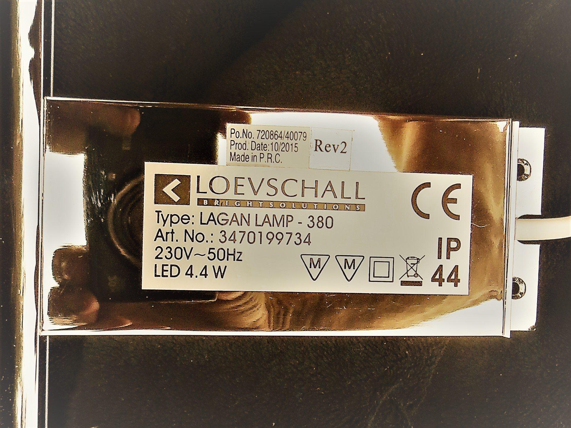Stilren badrumsbelysning LED från Ballingslöv badrumsskåp, 380 mm på