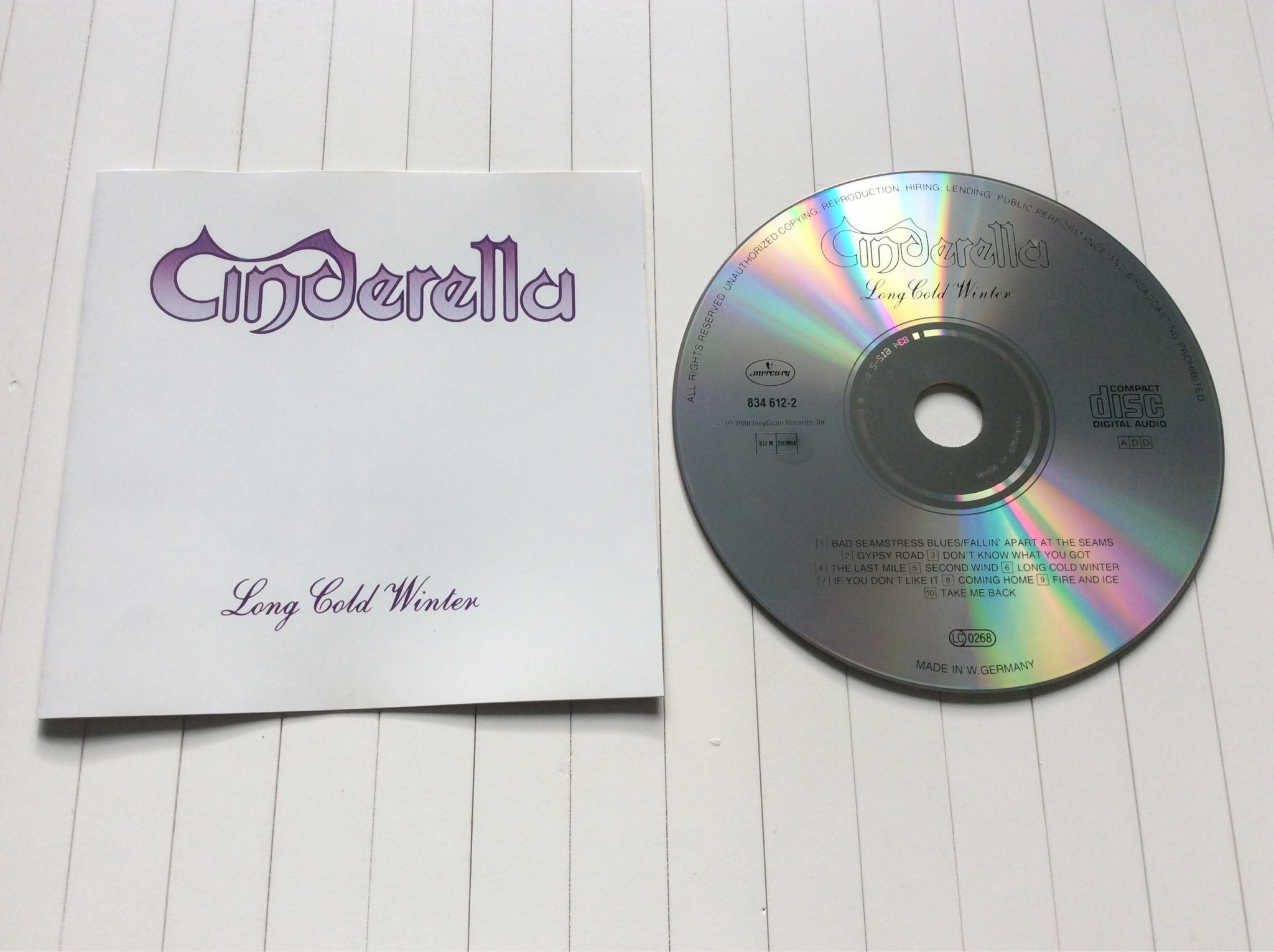 "Cinderella CD "" long cold winter """