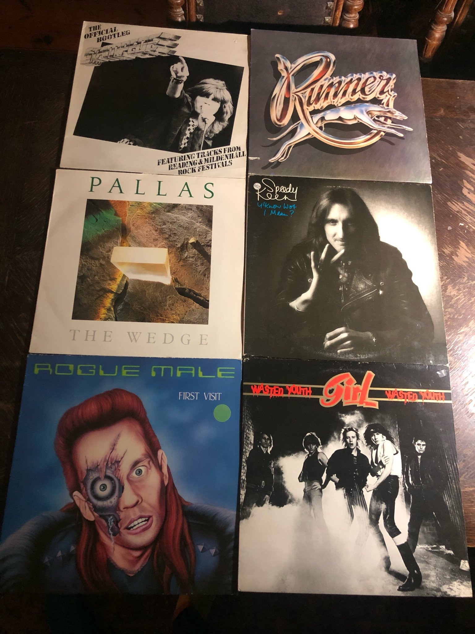 6 NWOBHM Album! ROGUE MALE. STAMPEDE. PALLAS. RUNNER. GIRL. S. KEEN. METAL progg