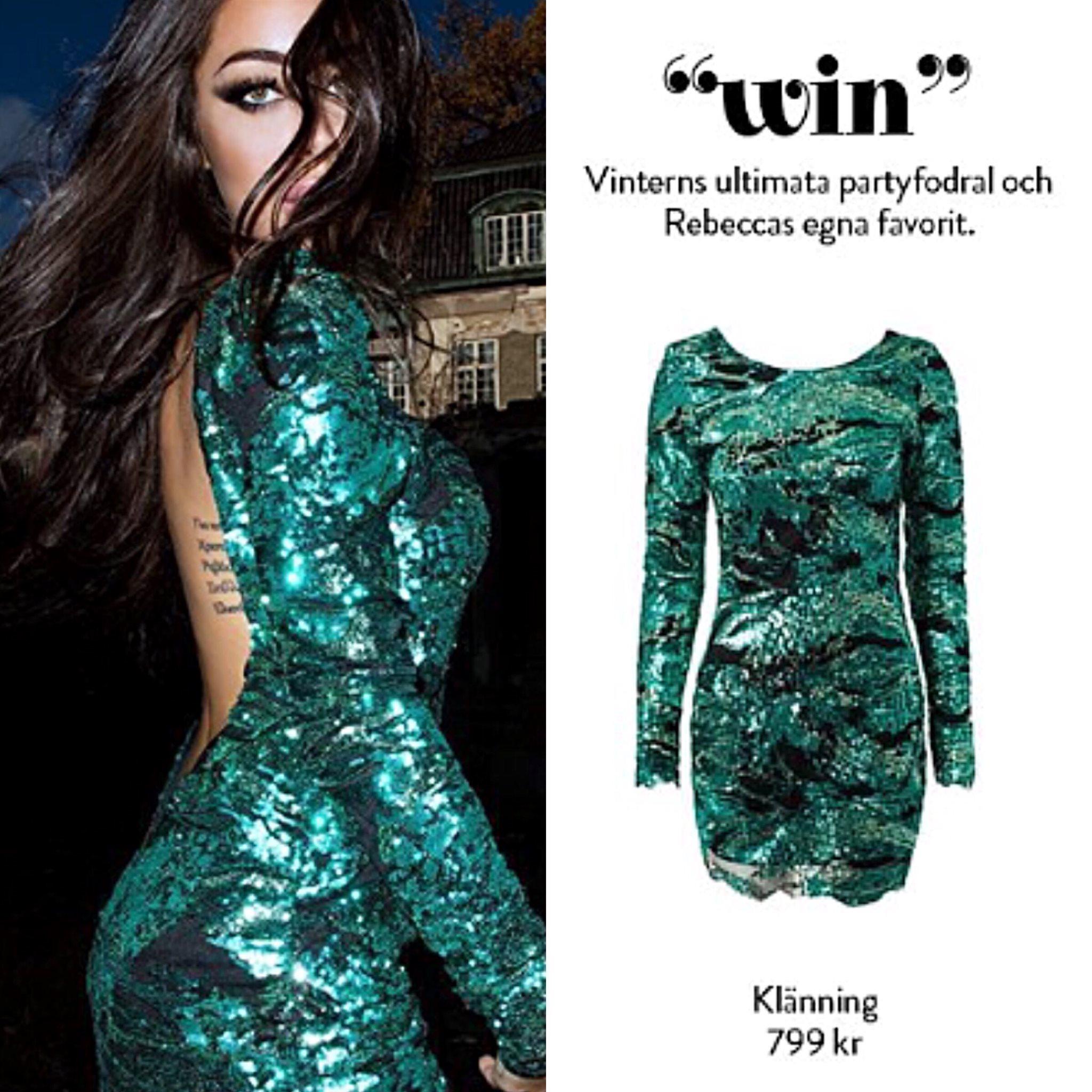 rebecca stella glitter klänning