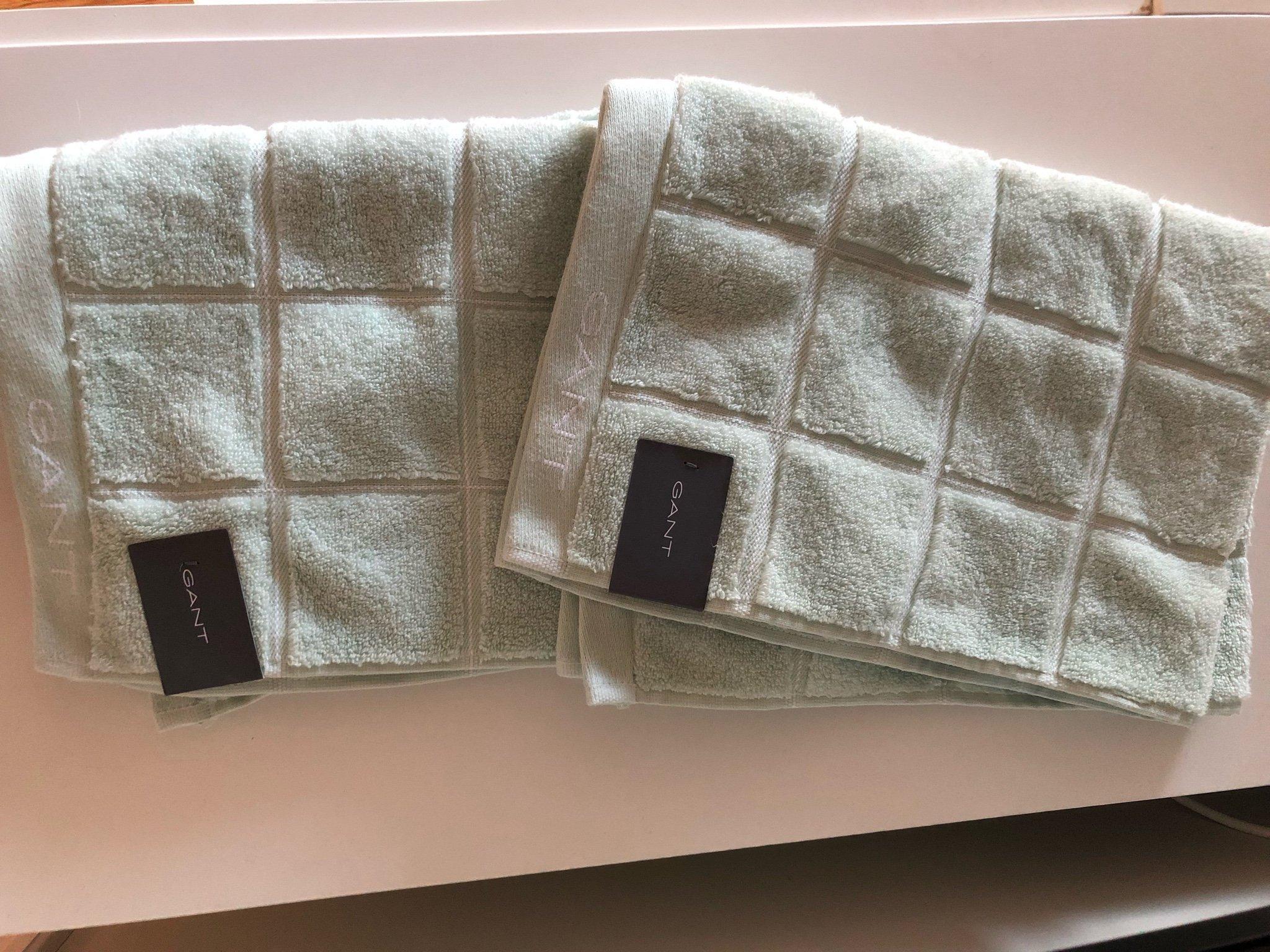 bra ut x storlek 7 nytt koncept 2 nya Windows check gant handdukar. (371622857) ᐈ Köp på Tradera