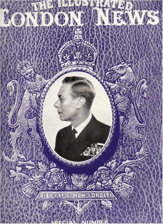 Kungligt, London News, minnesnummer för Kung George VI, 1952, massor av bilder