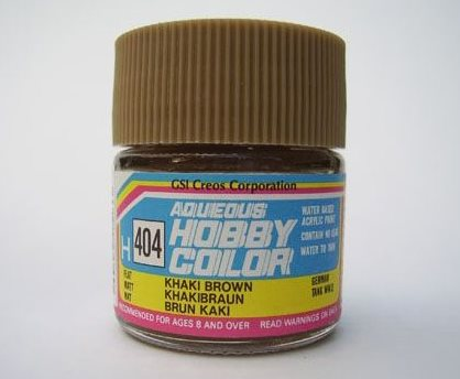 Gunze Mr Hobby Aqueous Hobby Color 10ml - H404 Khaki Brown (Flat)