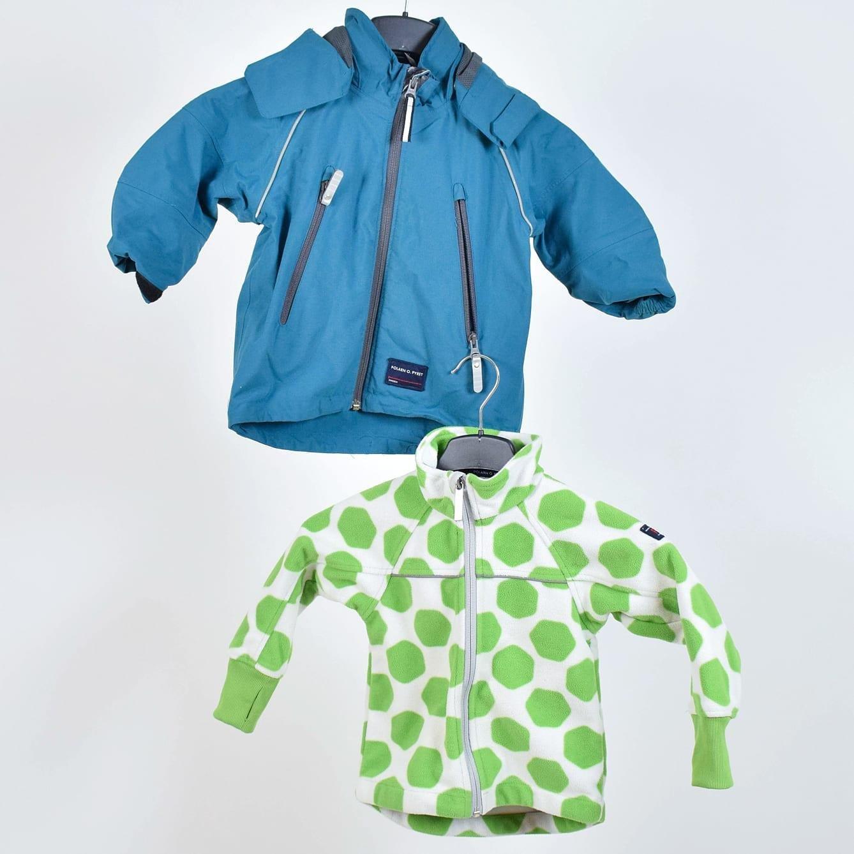 Grön & blå jacka från Polarn o Pyret, 2 pack
