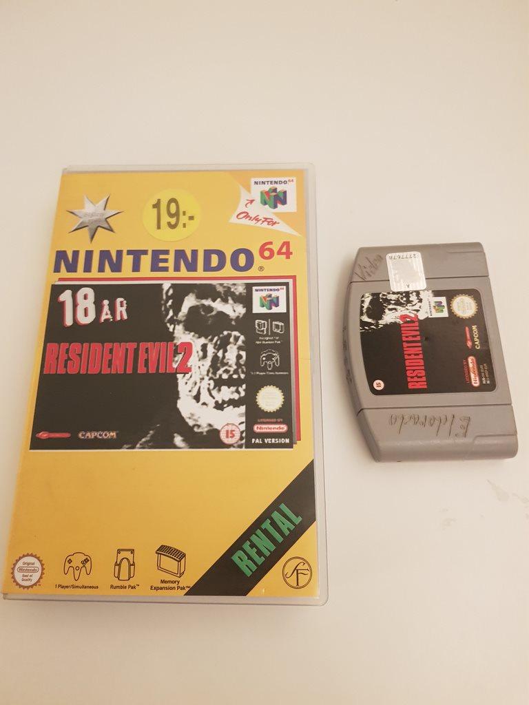 Nintendo 64 - Hyrbox Resident Evil 2 - Rental (335971281) ᐈ Settern