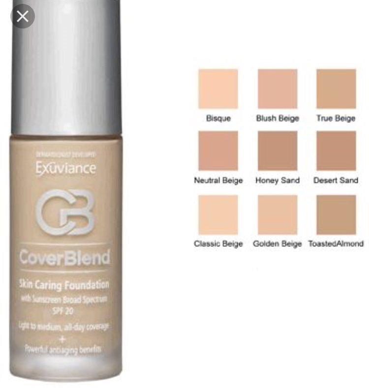 exuviance foundation färg