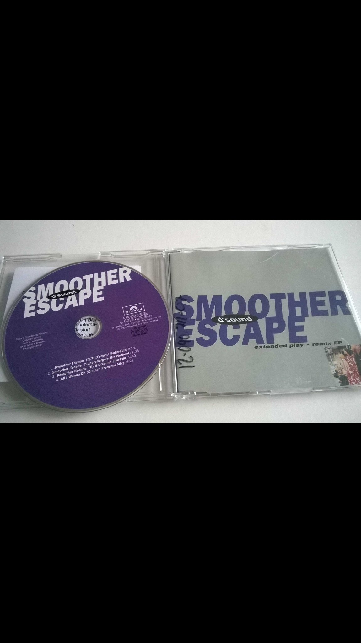D'Sound - Smoother Escape (Extended Play - Remix EP) CD