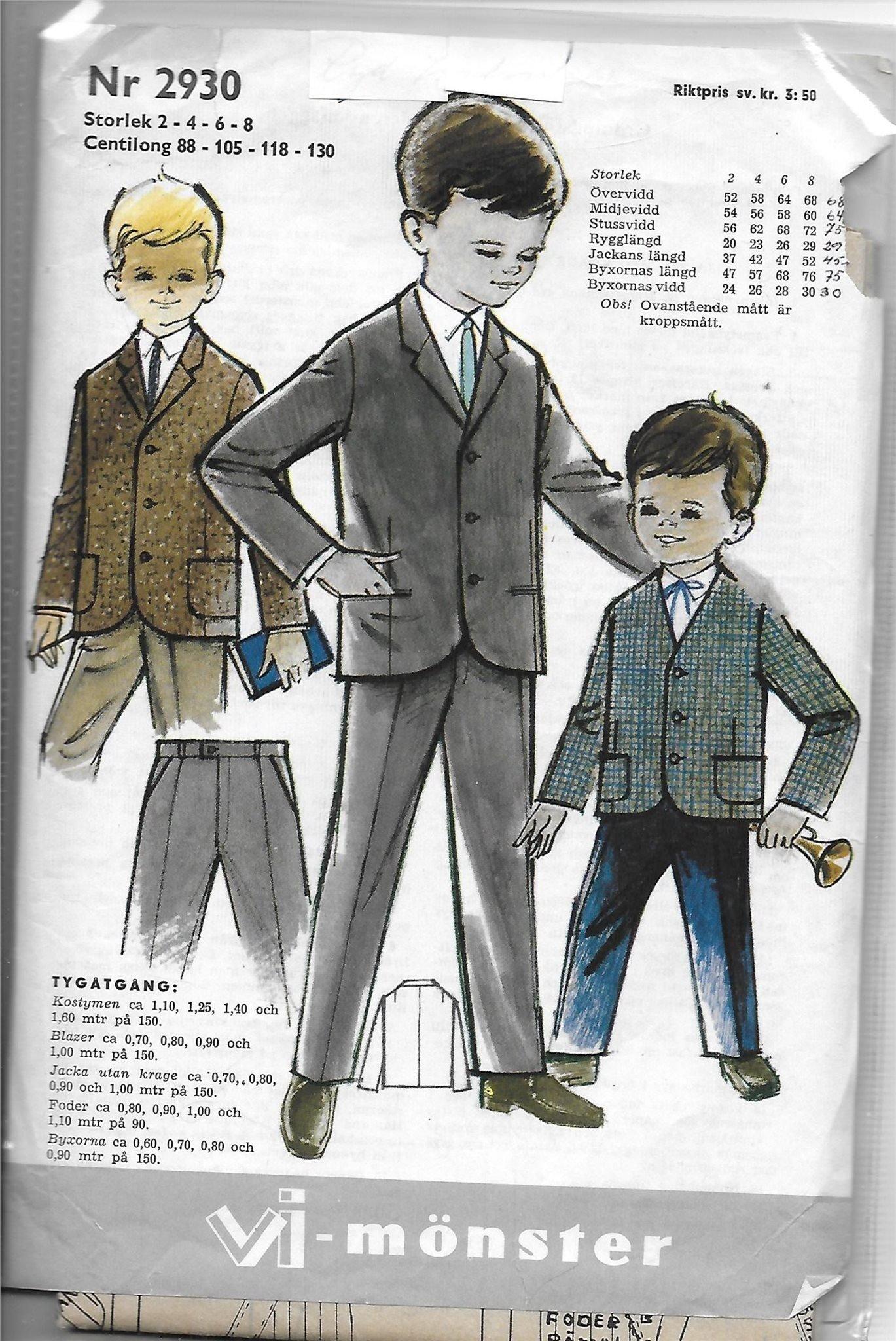 4c88ac0c75ca Mönster - Barnkläder - Kostym/Blazer/Byxa - Ret.. (346074398) ᐈ Köp ...