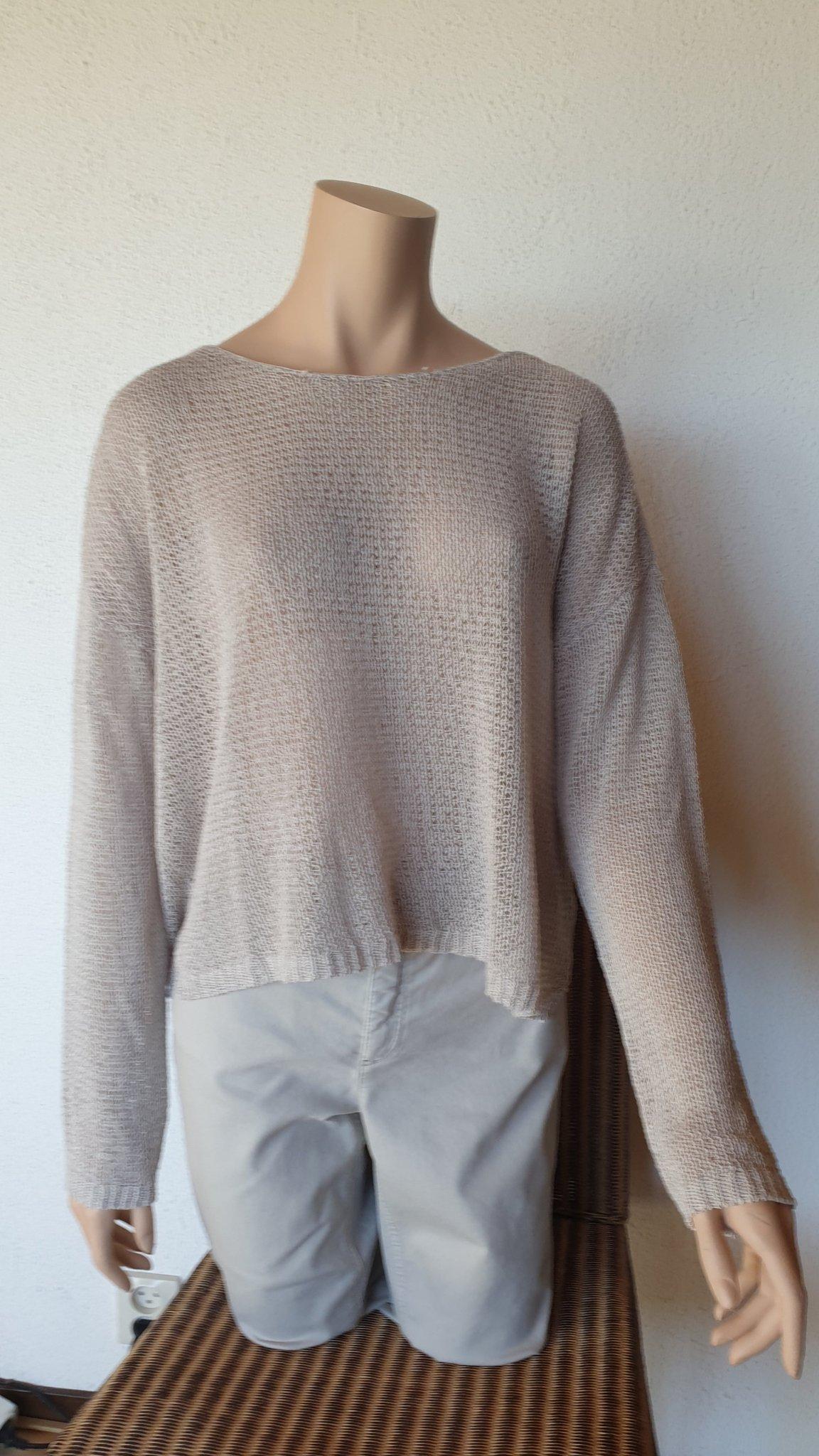 Oui stickad tröja, beige, stl. 42 (397514371) ᐈ Köp på Tradera