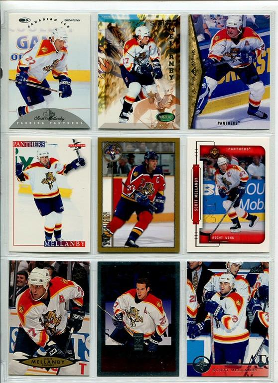 67525df5f9a 9 stycken hockey kort  Scott Mellanby 2  .. (277845489) ᐈ TPLrec på ...