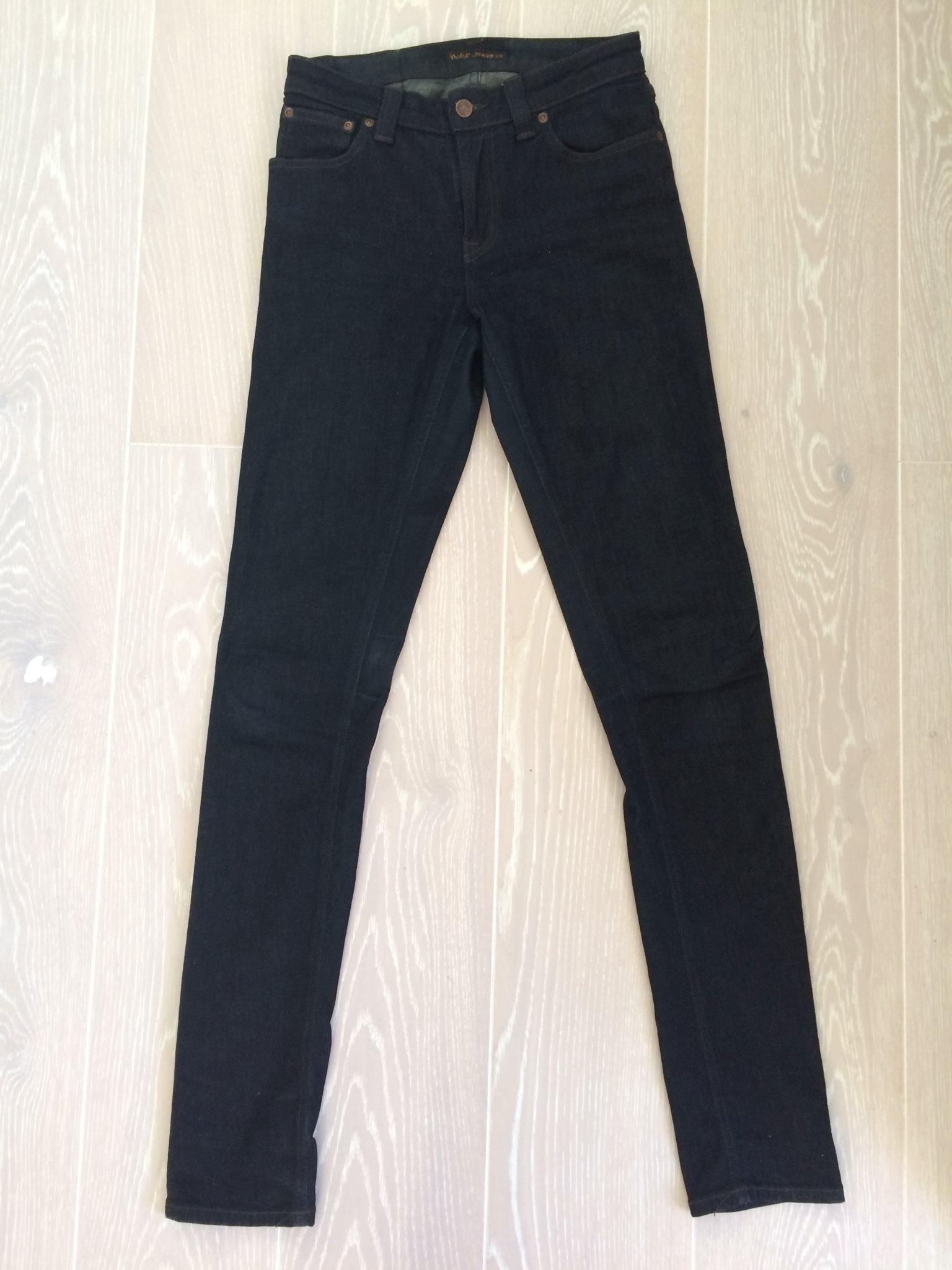 utsökt design fabrikspris gratis frakt Nya Nudie jeans organic mörkblå tjej dam (model.. (346153909 ...