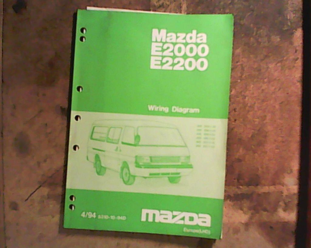 Mazda E2000, 1994, verkstadshandbok elschema