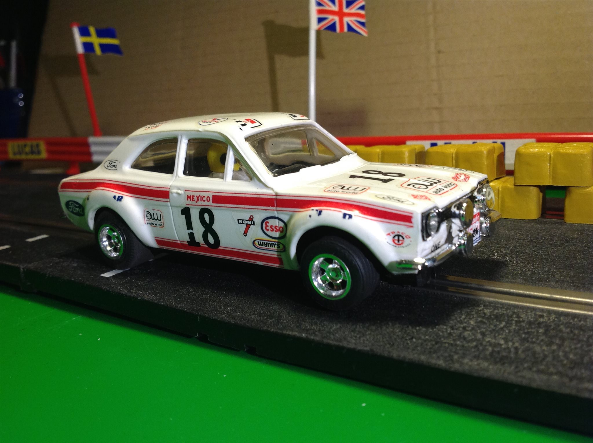 Scalextric Ford Escort RS 1600 Mexico från 70-talet.