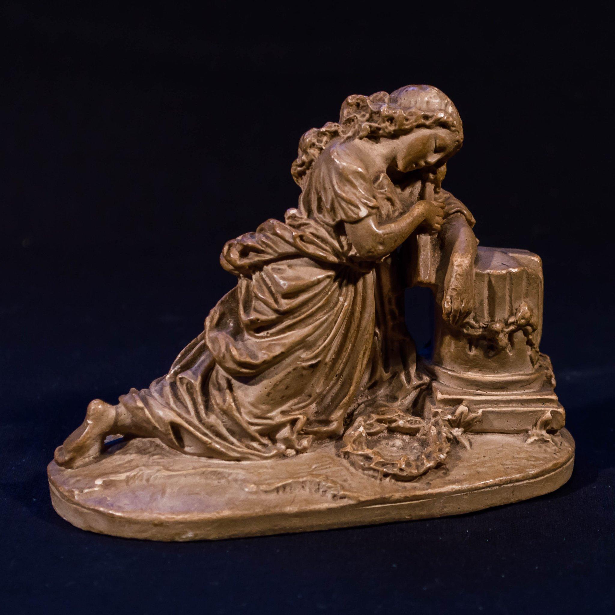 Skulptur Figurin Gips Klassisk Stil Allegori 424492437 ᐈ Kop Pa Tradera