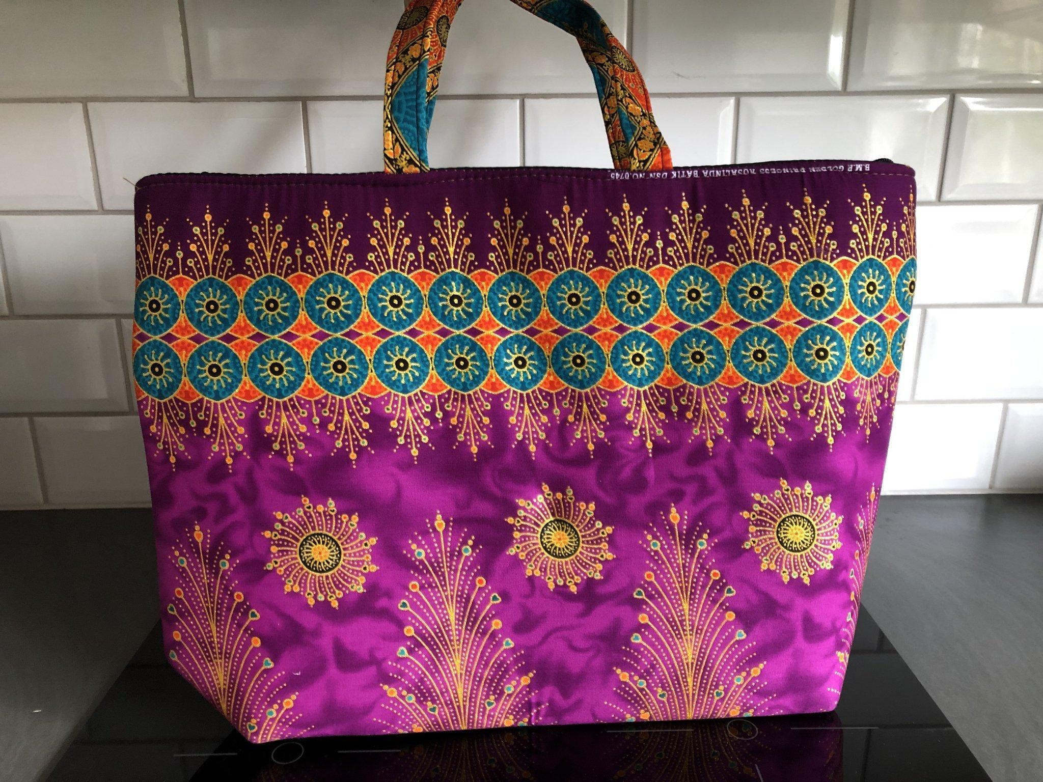 Härlig Färgglad väska med dragkedja. 50 x 36 cm (365336256