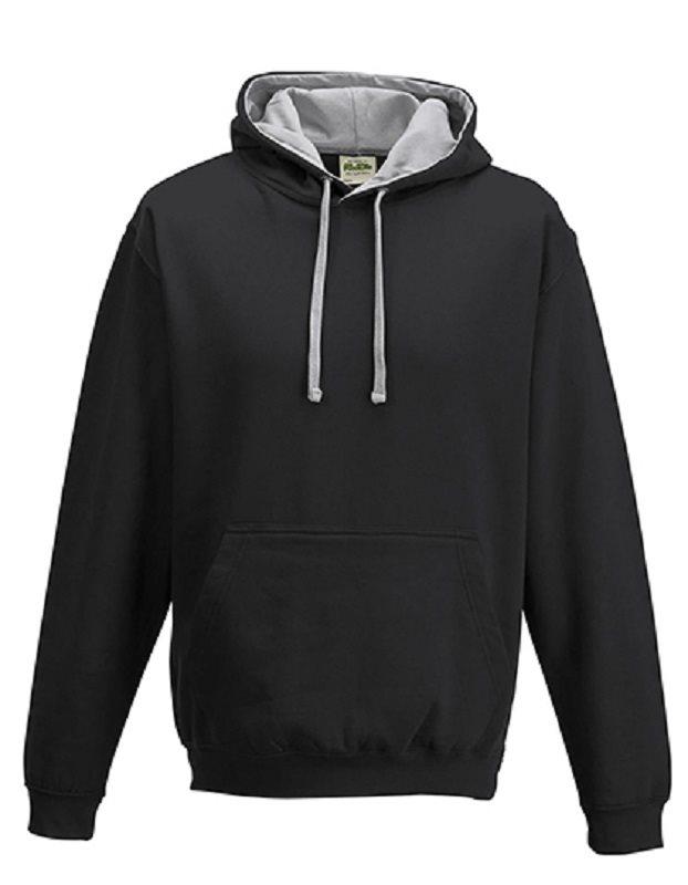 Hood - Huvtröja JH003, svart/grå, storlek 4XL