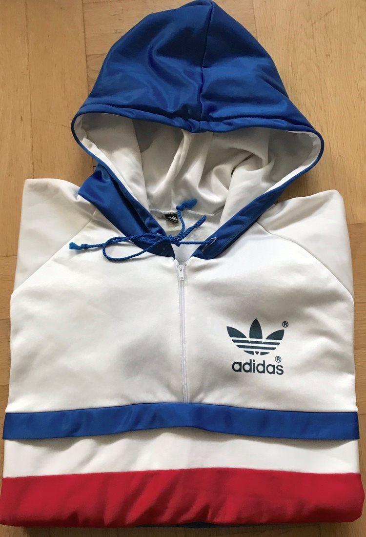 Vintage Adidas munktröja hoodie 80-tal retro wc.. (330651560) ᐈ Köp ... 18f0a70c25a77