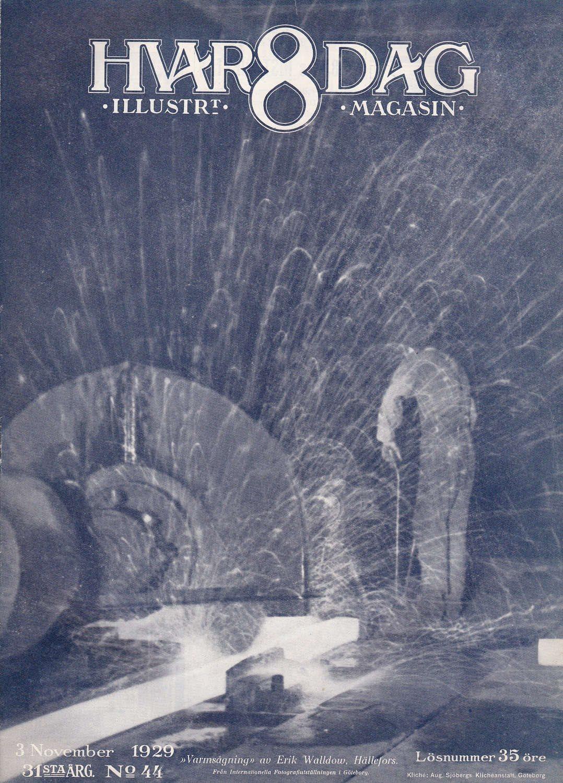 Hvar 8 Dag 1929-44 Arthur Lindhagen..Kinnekulle Verken