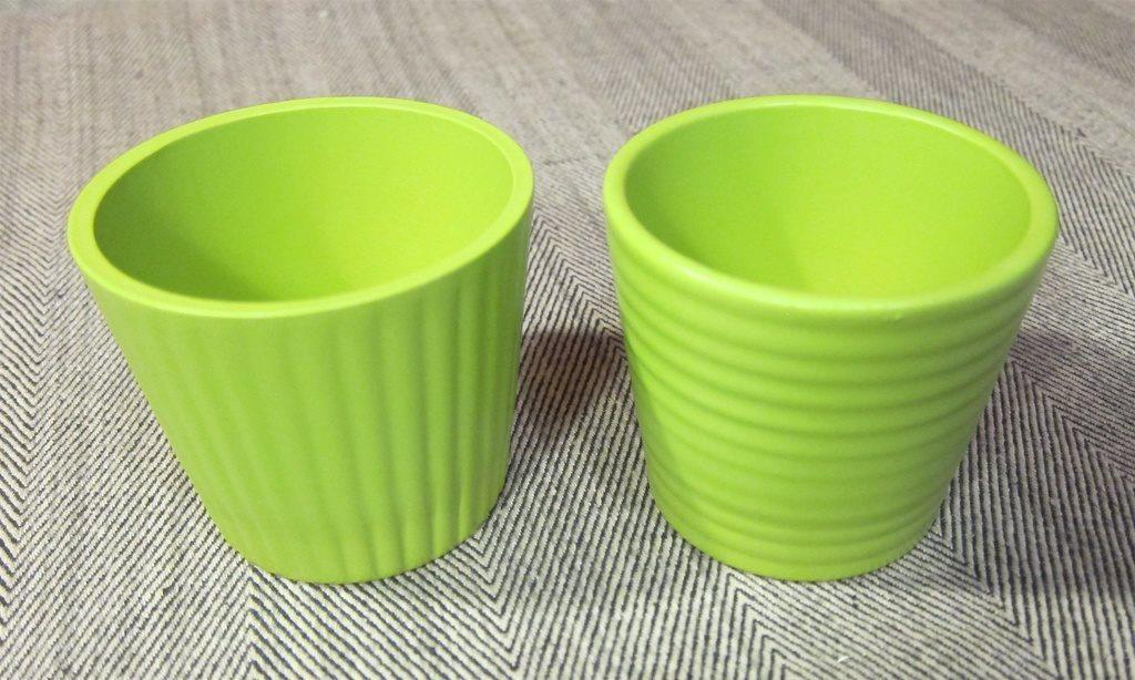 Två Små krukor lime gröna med ränder (328513650) ᐈ Köp på Tradera dc259f7dc6562