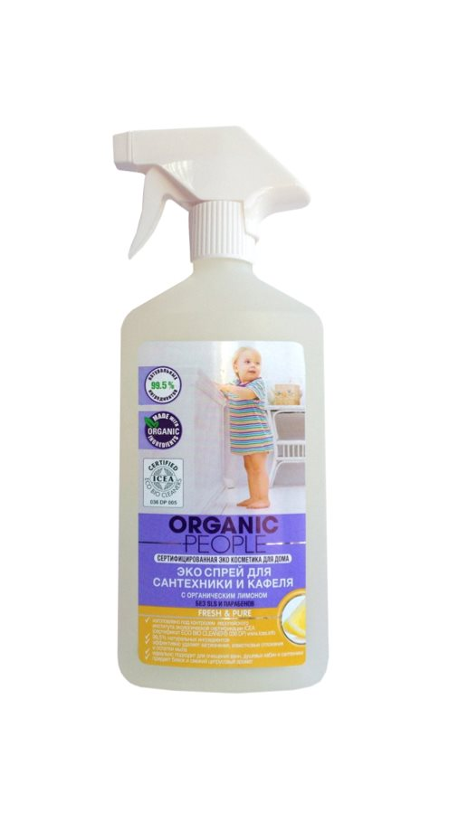 Organic People Tub and tile cleaning eco spray Lemon