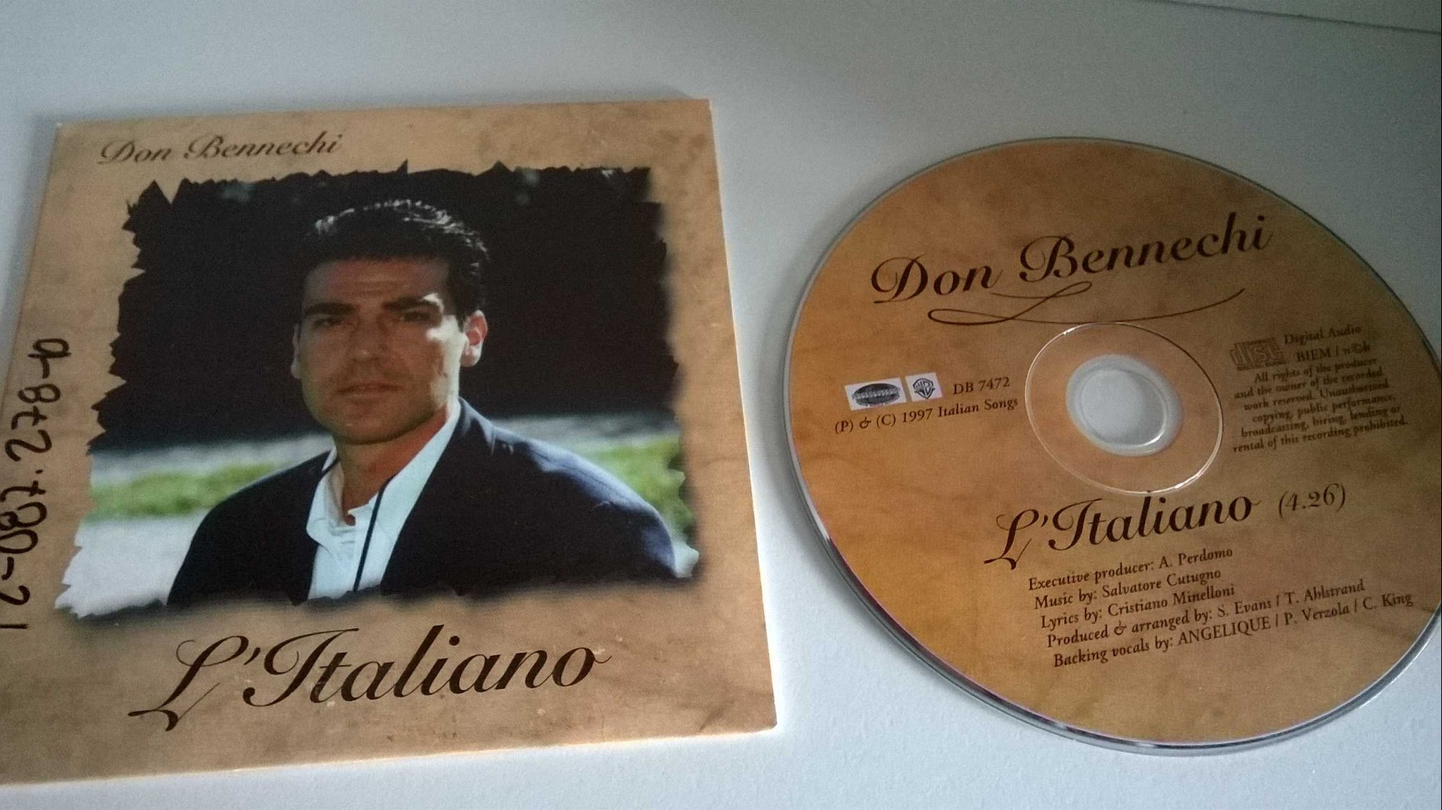 Don Bennechi - L'Italiano, single CD