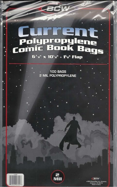 BCW Current Polypropylene Comic Book Bags (100 st)
