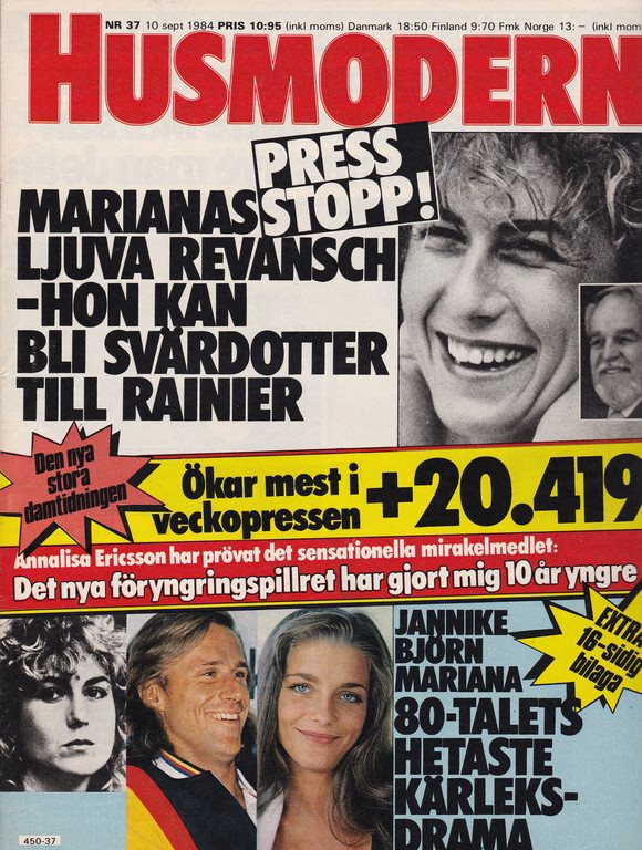 65abcf89fa07 Husmodern 1984-37 Björn Borg.Per Oscarsson.W My.. (254940323) ᐈ Köp ...